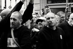Disturbance. (ianmiller6771) Tags: streetphotographyuk ukstreetphotography edl disturbance violence fascists rightwingpolitics worcesteruk blackandwhite bw whiteblack monochrome fujixt1 candid