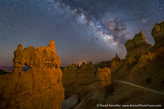 April Workshop (David Swindler (ActionPhotoTours.com)) Tags: bryce brycecanyon milkyway stars hoodoos lowlevellighting night nightscape