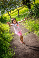 Doing the dance (kellypettit) Tags: fireworks gymnastics daughter dancing skipping happykid happychild enjoyinglife lifeissimple