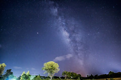 beautiful milky way galaxy on night sky (phatharapol) Tags: abstract astro astronomy astrophotography atmosphere background beautiful beauty blue bright calm camping constellation cosmos dark evening galaxy glowing hill landscape light milky mountain nature nebula night outdoors outerspace planet science sky space star starfield starlight starry travel tree universe valley view way