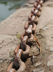 Links to the past (microwyred) Tags: ironmetal anchorvesselpart metallic rust sea metal backgrounds harbor link old connection strength heavy equipment nauticalvessel closeup rusty steel stonehaven chain security