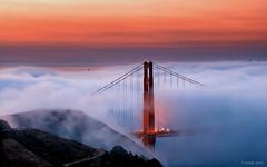 Twilight Fog (Joseph Greco) Tags: goldengatebridge bridge fog marinheadlands marincounty landscape sanfrancisco clouds twilight dawn
