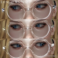 Texture with different texture of glass (HAYSURIZA) Tags: glasses sunglasses eyewear secondlife haysuriza accessories elegant golden silver transparent lens 3d object mesh polygon glass crystal megane
