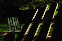 NIGHTTIME ADIRONDACKS (photodittmer) Tags: stumpsprouts berkshires massachusetts night sky meadow light chair adirondack nighttime dark darkness green black 2018
