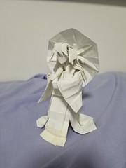 Walking in the rain designed by obelisk, folded by me :D (vincentloi12) Tags: obelisk walkingintherain origami 摺紙