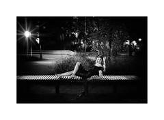 Film Noir XXI (Passie13(Ines van Megen-Thijssen)) Tags: kiki filmnoir weert netherlands night nightscape portrait portret woman blackandwhite bw sw zw zwartwit monochroom monochrome monochrom canon sigma35mmart inesvanmegen inesvanmegenthijssen