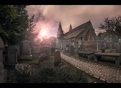 God is always busy... (Dark side of the lens) Tags: scotland aberdeen canon carl zeiss location photoshop cathedral st machar lightroom movie cinematic graves graveyard saint church uk