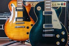 1975 Gibson Les Paul Custom Deluxe Reissue #19/75 (jeff's pixels) Tags: gibson lespaul guitar blue instrument custom deluxe 1975 strings