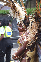 DSC_8265 Notting Hill Caribbean Carnival London Exotic Colourful Gold Costume with Feathers Girls Dancing Showgirl Performers Aug 27 2018 Stunning Ladies (photographer695) Tags: notting hill caribbean carnival london exotic colourful costume girls dancing showgirl performers aug 27 2018 stunning ladies gold with feathers