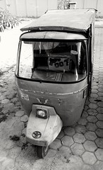 James Bond Rickshaw (Zohaib Usman (1M Thanks)) Tags: rickshaw vehicle vehicles autorickshaw autos motorized motorrickshaw autosandvehicles blackandwhite blackandwhitephoto blackandwhitemaniacs blackandwhitephotography bw bwphotography monochrome zohaibusmanphotography poshe550