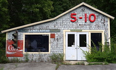 """Stuff for sale here"" - Outbuilding of the Love Barn, Orland, Maine (Spencer Means) Tags: architecture shop store lovebarn orland maine us usa newengland dwwg explore door doorway entrance"