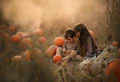 September (agirygula) Tags: september canon sigma sigmaart pumpkin pumpkinfield orange warm sundown smoke goldenhour kids children childrenfineart fineart childhood childrenseemagic sand magic ligt natural nature halloween