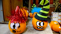 goofy pumpkins🎃💛 (sugarelf) Tags: pumpkins september season autumn pacificnorthwest night pumpkinseason atthegrocerystore supermarket photography