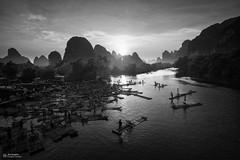 NS6A0091d3-fr (kinoh) Tags: yangshuo guilin guangxi china landscape sunset fisherman