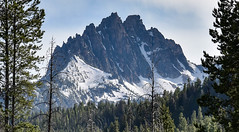 Rugged Landscape (maytag97) Tags: maytag97 nikon d750 idaho sawtooth mountains range calm peaceful nature natural sky forest tree mountain landscape afternoon evening rugged rocky mountainside snow