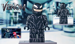 LEGO VENOM (MGF Customs/Reviews) Tags: minifigure figure custom symbiote sony hary tom venom lego