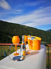 Cheers everybody!...😊 (carlesbaeza) Tags: cheers champaign cava mountain travel drink orange sky landscape ngc
