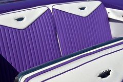 Riding with the King (nickitson) Tags: car cadillac americana vintage seats upholstery custom badge auto classic purple white automobile show exhibition 1956 biarritz eldorado crest crown bench detail perfection king kingcaddy caddy