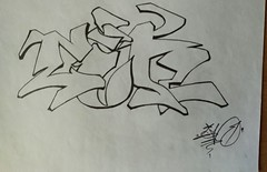 """""""back to"""" ... unknown year (ginnumberone1) Tags: gin sketch graffiti art artwork painting drawing instaart style markers paper oldschool old unknown"""
