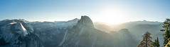 Morning dawn (jonsimeral) Tags: panoramic pano california nationalparks sonya7rii panorama landscape morning sunstreaks sunrise glacierpoint halfdome yosemitevalley yosemite