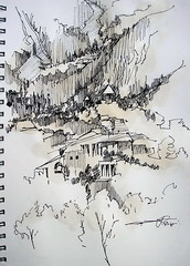 P1018693 (Gasheh) Tags: art painting drawing sketch monastery church nature line pen color cognac gasheh 2018