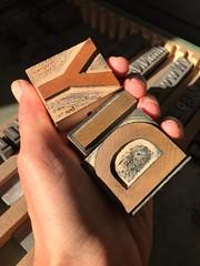 DIY wood type (artnoose) Tags: light morning hand letters letterpress type wood diy