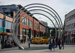 Modern Art... (PJ Swan) Tags: derby city centre england derbyshire modern art circles