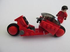 Kaneda's Bike from Akira (Lego guy 2) Tags: akira anime lego kaneda bike motorcycle manga scifi future cyberpunk