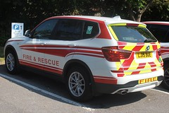 LJ15 BUE (JKEmergencyPics) Tags: tags surrey fire rescue service sfrs bmw x3 officer officers vehicle car unit emergency response responder 999 co coresponder reigate wray park hq headquarters open day event 2018 road lj15 bue lj15bue