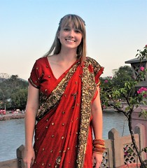 Danielle at Ganga Concert (Scott RS) Tags: portrait lovely kind caring compassionate beautiful longhair blonde smile bangs teeth milky tender sweet pretty sari india concert indianclassicalconcert ganga travel beauty gorgeous long smooth skin eyes sparkle canon canon40d 40d