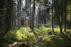 Chapel near the source of Western Dvina river (aburlakov) Tags: western dvina daugava river source chapel creek stream forest