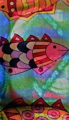 Un océano de color (Rand Luv'n Life) Tags: odc our daily challenge supernatural multicolors fish beach towel stain glass window reflections natural back lighting indoor composition abstract art vibrant