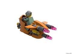 30 RETRO SPACE HERO'S SPACEBIKE - Back Perspective (Nuno_0937) Tags: lego ideas classic space spaceship ship moc retro hero minifigure