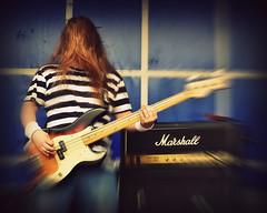 Marshall Amplification... (Harleynik Rides Again.) Tags: bass guitar marshall hair makingmusic harleynikridesagain
