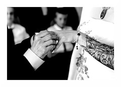 """Jour D'Alliance"" (The Blue Water Lily's Company) Tags: fdrouet nb bw monochrome monochrom mariage wedding main hand nikon d90"