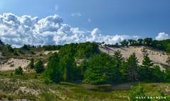 Warren Dunes (mswan777) Tags: beach hike 1855mm nikkor d5100 nikon michigan bridgman white green blue cloud sky scenic nature outdoor grass pine tree landscape dune sand