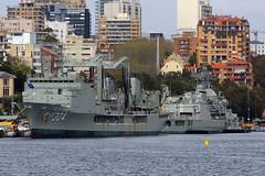 HMAS Success,Potts Point, Sydney, September 12th 2014 (Southsea_Matt) Tags: hmassuccess 304 royalaustraliannavy pottspoint sydney newsouthwales australia spring 2014 september canon 60d sigma 1850mm boat ship water