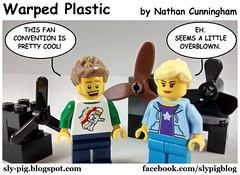 Warped Plastic 32 (Nathan C. Cunningham) Tags: lego legocomic webcomic comics warpedplastic convention fans humor puns