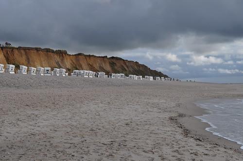 Sable blanc et pente douce, plage de Kampen, Sylt, Nordfriesland, Schleswig-Holstein, Allemagne.
