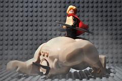 The Unworthy Thor vs Goblin King (Superhero Minifig) Tags: theunworthy thor vs goblinking marvel superherominifigs superhero avengers minifigs minifigure moc asgardian