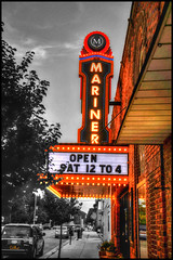 Mariner Theater (lloydboy52) Tags: marinertheater mariner theater marinecity michigan neon marquee lights sign building architecture
