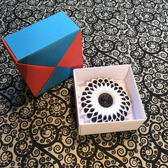 ORIGAMI BOXES (16) (JOHN MORGANs OLD PHOTOS.) Tags: made by john morgan 160 gsm card for my ribbon brooches origami boxes box