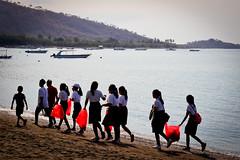 Bali, Pemuteran, collecte des dechets sur les plages (Calinore) Tags: indonesia indonésie bali beach plage silhouette