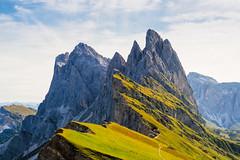 The Meadows and the Rocks... (Ody on the mount) Tags: anlässe berge dolomiten em5ii fermeda fototour gipfel hires italien mzuiko2518 omd odles olympus seceda südtirol urlaub mountains peaks