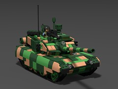 Type 99A2 MBT (demitriusgaouette9991) Tags: lego military army ldd armored powerful tank turret railgun chinese