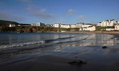 Port Erin beach. (Chris Kilpatrick) Tags: chris canon canon7dmk2 outdoor nature beach water waves bluesky porterin isleofman september sand landscape seascape irishsea sea