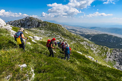 Dinara mountain, Bosnia and Herzegovina (HimzoIsić) Tags: landscape mountain hiking trail travel poeple grass green sky blue clouds outdooor nature