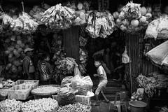Surprise! (wilsonchong888) Tags: leicamsummilux35mmf14asphii m10 leica streetphotography yangon burma myanmar black white monochrome wetmarket shop kids
