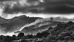 Casteldoria (nicolamarongiu) Tags: biancoenero blackandwhite monocromo casteldoria landscapes paesaggio nuvole montagna torre castello sardegna italy