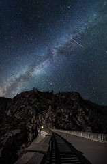A Perseid over Hetch Hetchy (MicahBurkePhotography) Tags: stars milkyway meteor space astrophoto